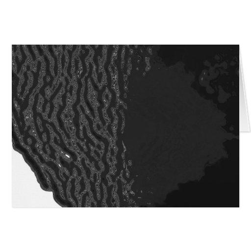 Océano negro tarjeta de felicitación