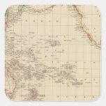 Océano Pacífico 2 Calcomania Cuadrada Personalizada