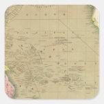 Océano Pacífico 5 Pegatina Cuadrada