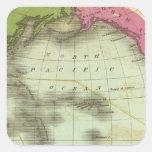 Océano Pacífico 6 Calcomanias Cuadradas