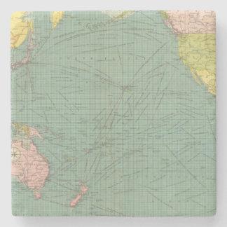 Océano Pacífico 9 Posavasos De Piedra