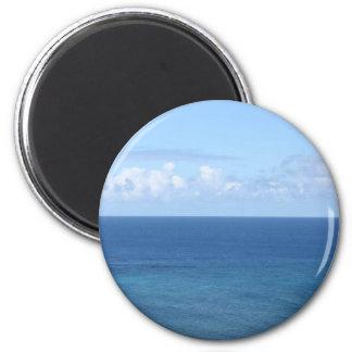 Océano Pacífico, Kauai, Hawaii Imán Redondo 5 Cm