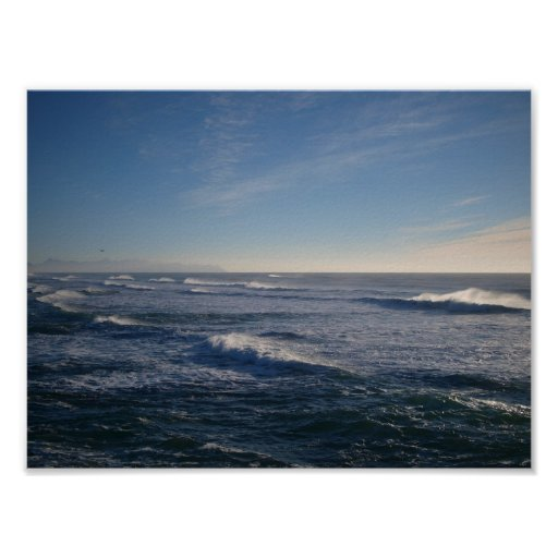 Océano Pacífico Póster