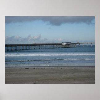 Océano Pacífico y el embarcadero de la playa del o Impresiones