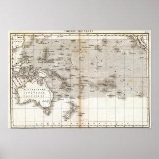 Océano Pacifique de los respiraderos Póster