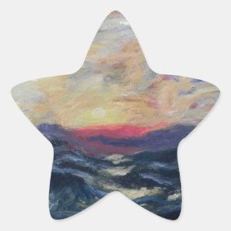 Océano Pegatina En Forma De Estrella