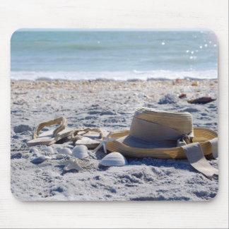 Océano, playa, cáscaras del mar alfombrillas de raton