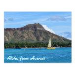 Océano principal de la playa de Hawaii Duamond Postales