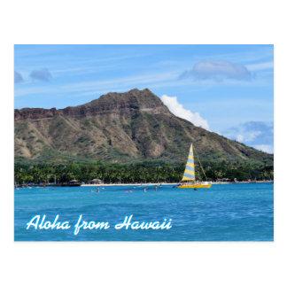Océano principal de la playa de Hawaii Duamond Postal