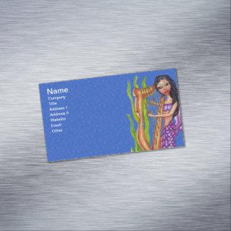 Océano púrpura cabelludo oscuro bonito de la arpa tarjetas de visita magnéticas (paquete de 25)