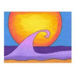 Océano púrpura de la pasión postal