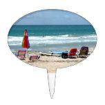 océano SM de la arena de los paraguas de las tabla Decoraciones De Tartas