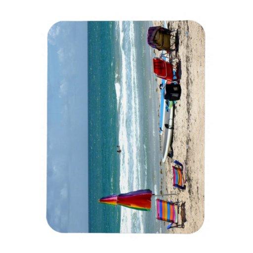 océano SM de la arena de los paraguas de las tabla Imanes Flexibles