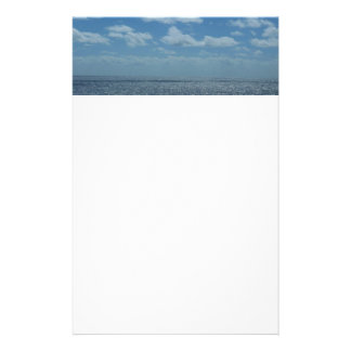 Océano soleado del azul del mar del Caribe Papeleria Personalizada
