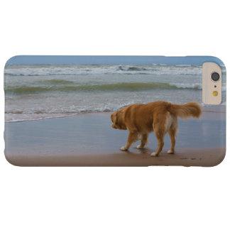 Océano tocante del perro perdiguero del pato de funda para iPhone 6 plus barely there
