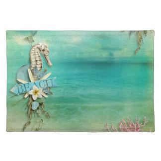 Océano tropical de las estrellas de mar del manteles individuales