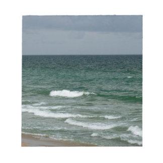 Océano verde tempestuoso de la Florida Bloc De Notas