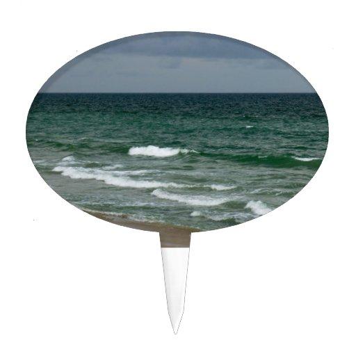 Océano verde tempestuoso de la Florida Decoraciones Para Tartas