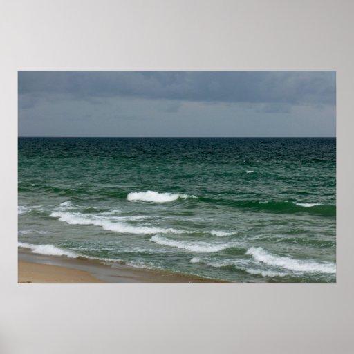 Océano verde tempestuoso de la Florida Impresiones