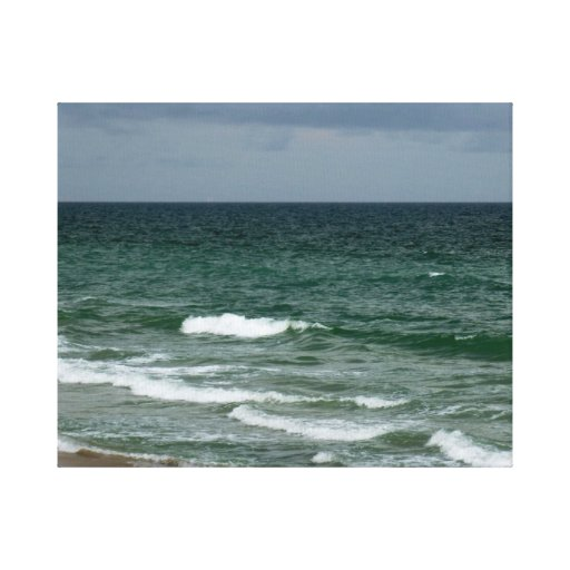 Océano verde tempestuoso de la Florida Impresiones En Lienzo Estiradas