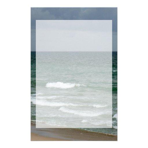 Océano verde tempestuoso de la Florida Papeleria