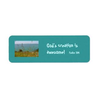 Océano Vista - salmo 104 Etiquetas De Remite