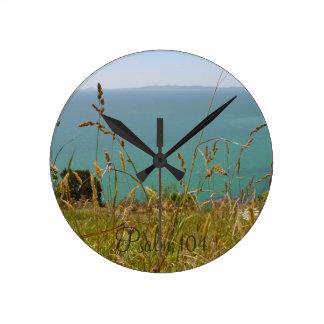 Océano Vista - salmo 104 Relojes De Pared