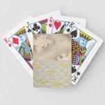 océano y cielo japoneses baraja de cartas