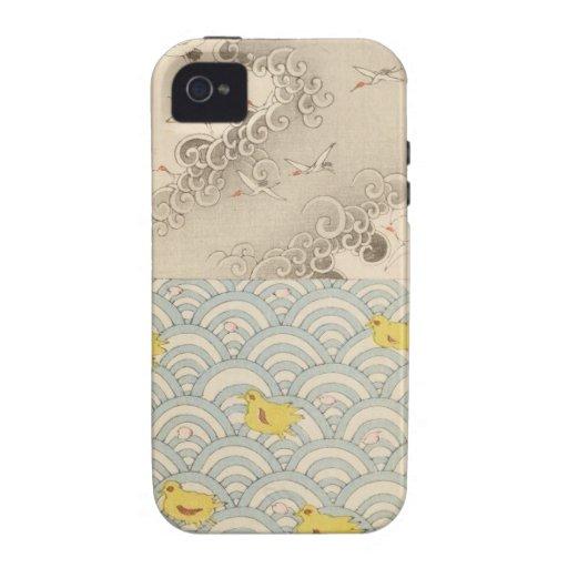 océano y cielo japoneses iPhone 4/4S carcasa