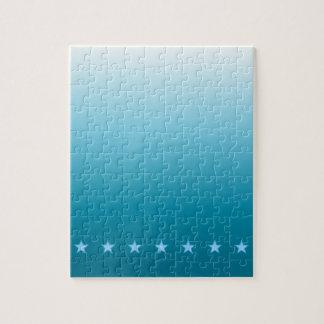 Océano y estrellas Ombre Puzzle