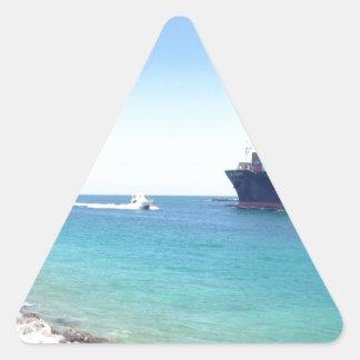 océano y nave del sur de Miami la Florida de la Pegatina Triangular