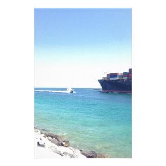 océano y nave del sur de Miami la Florida de la pl Papeleria De Diseño