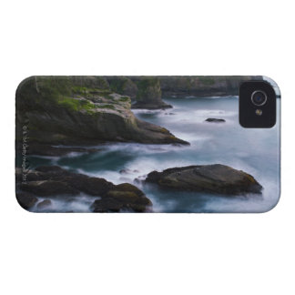 Océano y orilla rocosa de la área remota 2 iPhone 4 carcasa