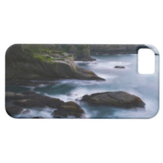 Océano y orilla rocosa de la área remota 2 iPhone 5 fundas