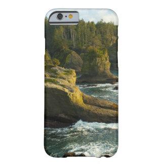 Océano y orilla rocosa de la área remota funda de iPhone 6 barely there