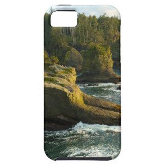 Océano y orilla rocosa de la área remota iPhone 5 funda