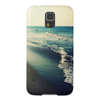 Océano y playa en la oscuridad funda galaxy s5