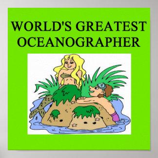 Oceanógrafo de la oceanografía póster