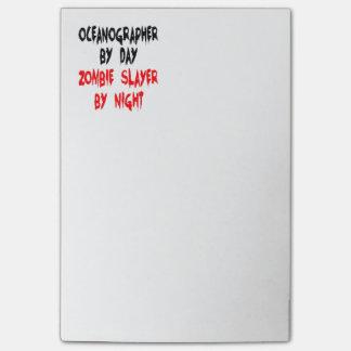 Oceanógrafo del asesino del zombi post-it® nota