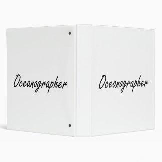 Oceanographer Artistic Job Design Vinyl Binders
