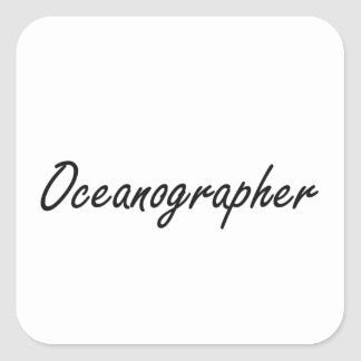 Oceanographer Artistic Job Design Square Sticker