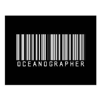 Oceanographer Bar Code Postcard