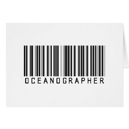 Oceanographer Bar Coded Greeting Card