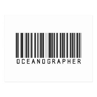 Oceanographer Bar Coded Postcard