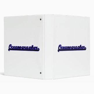 Oceanographer Classic Job Design Vinyl Binder