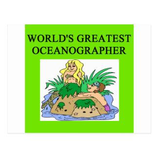 oceanographer gift postcard