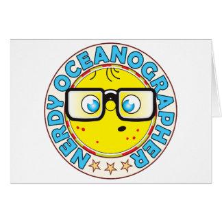 Oceanographer Nerdy Greeting Card