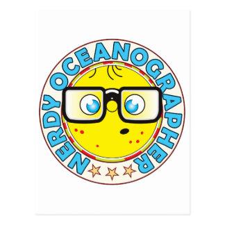 Oceanographer Nerdy Postcard
