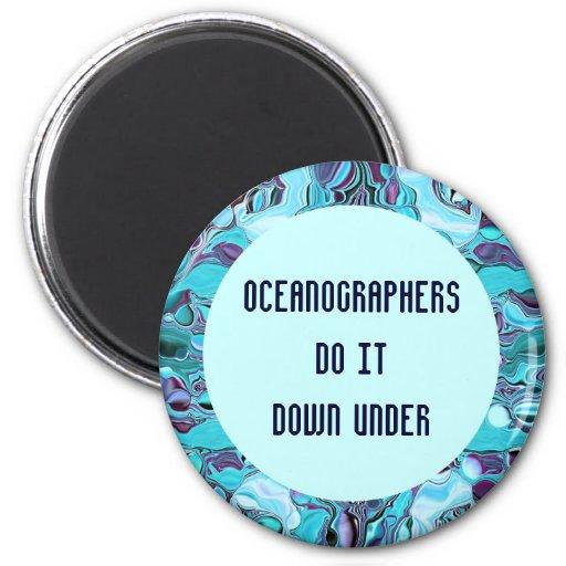 oceanographers joke 2 inch round magnet