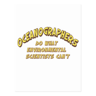 Oceanographers Postcard